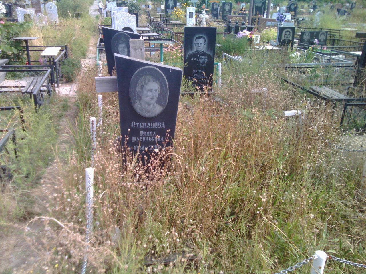 Уборка могил - до